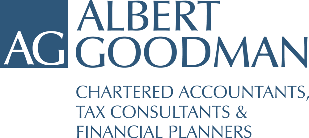 Albert Goodman Logo All Blue Strapline.png