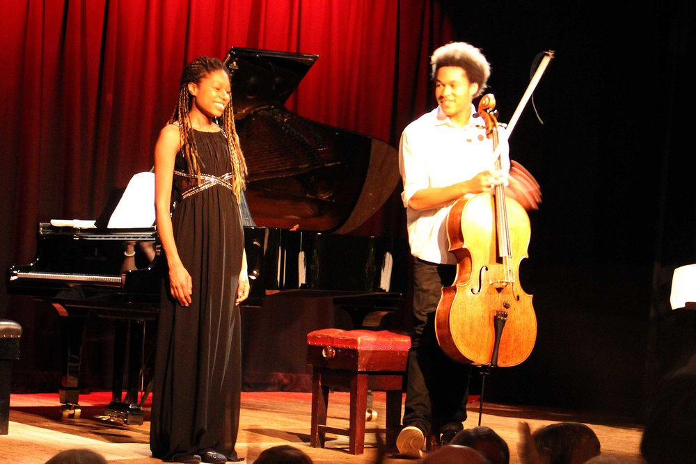 cellist Sheku Kanneh-Mason and pianist, his sister Isata