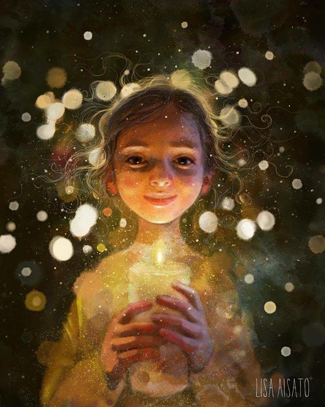 """Bak luke nummer 24 ligger bildet """"Lys i mørket"""". Det er det julen er for meg. Et varmt lys vi kan samle oss rundt i den mørkeste tiden på året. God jul! ❤️"""