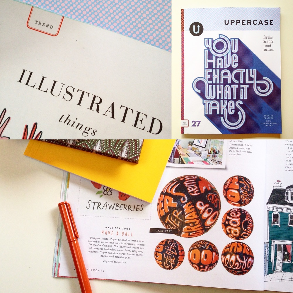 purdue cover letter workshop%0A Issue    is all about illustrators  Right there on the Trend pages was a  basketball I painted with custom lettering  I love this magazine
