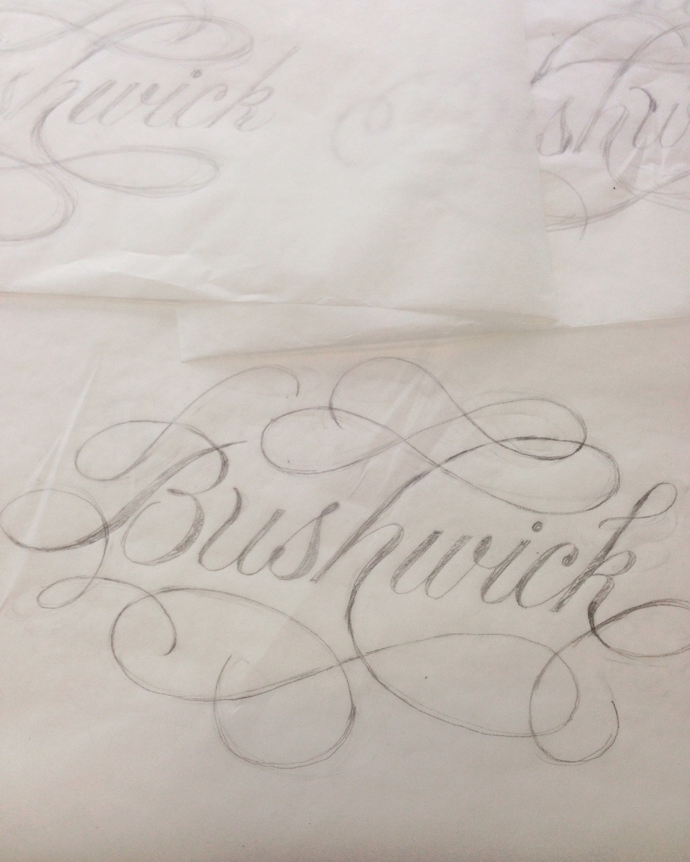 These are works in progress...working out the flourishing.