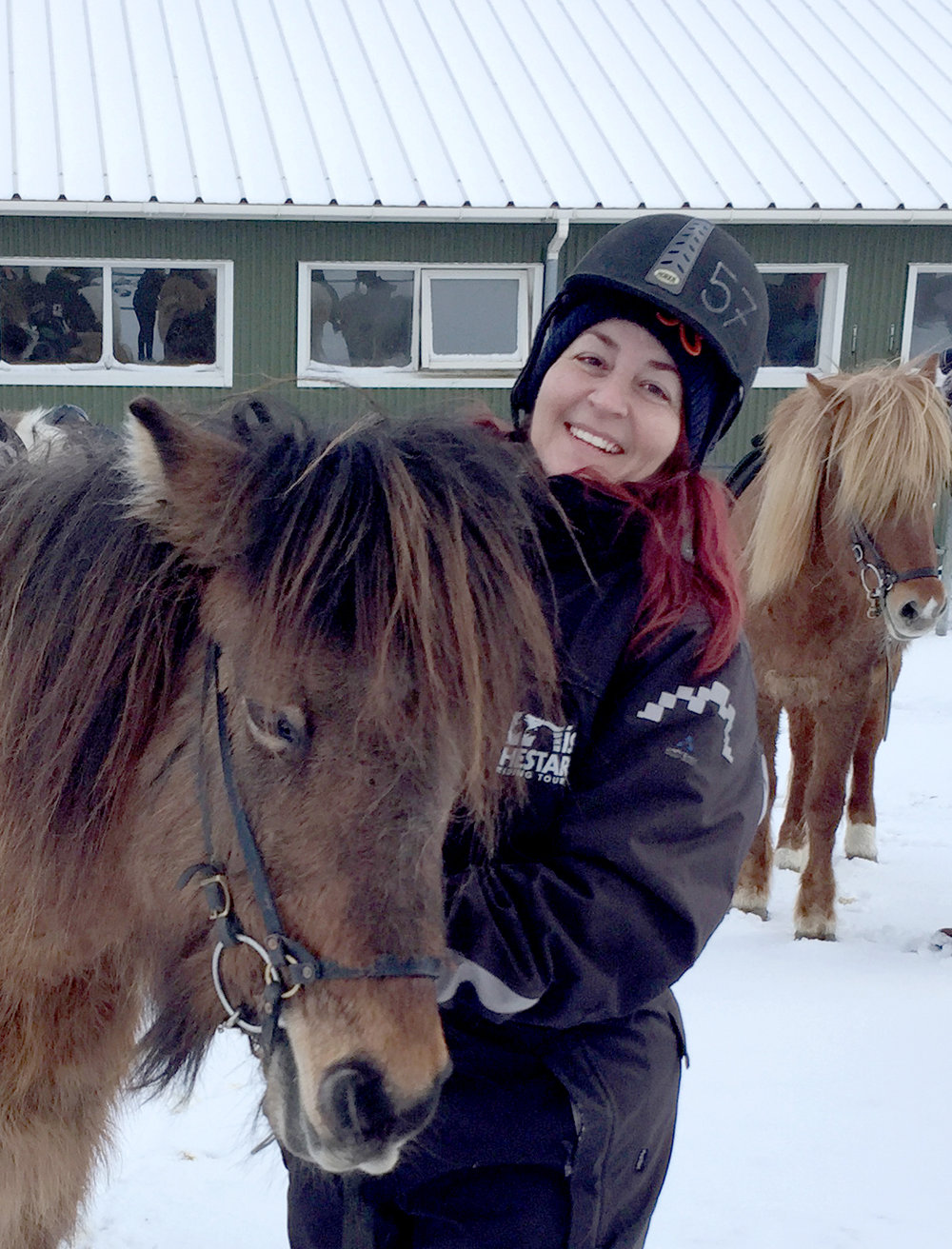 After riding Icelandic horses. I'm 5ft.2, so this guy is short, but don't call him a pony!