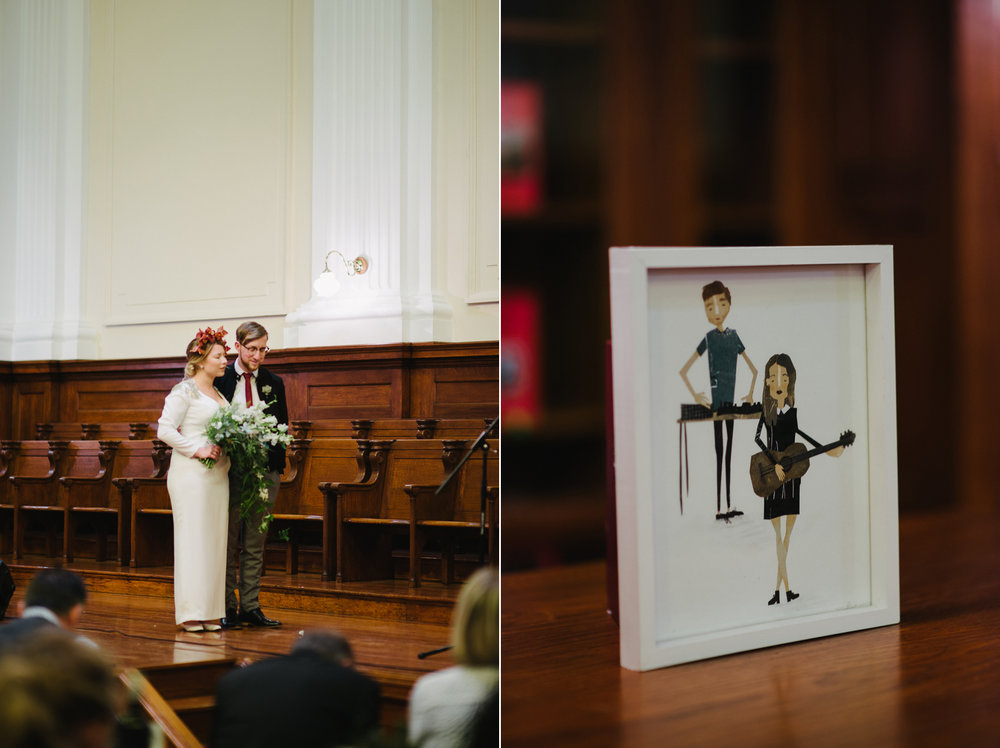 Centre for the Book Yeahyeah Photography Wedding Jono Mischa Cap