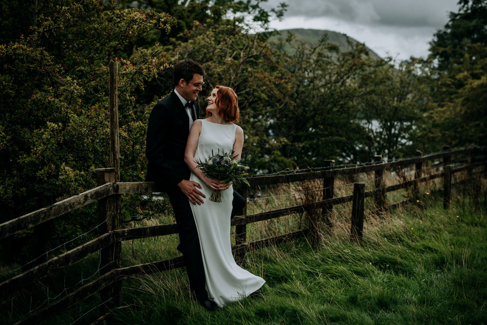 Edinburgh weding photographer Lake District wedding