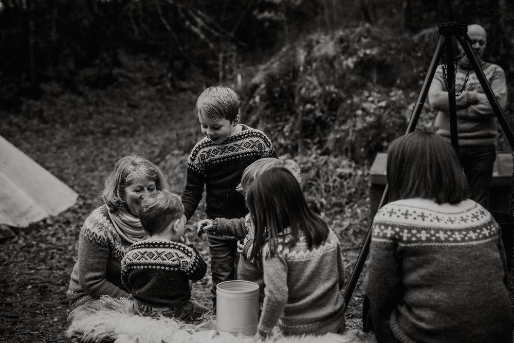 Familiefotografering i Bergen utendørs