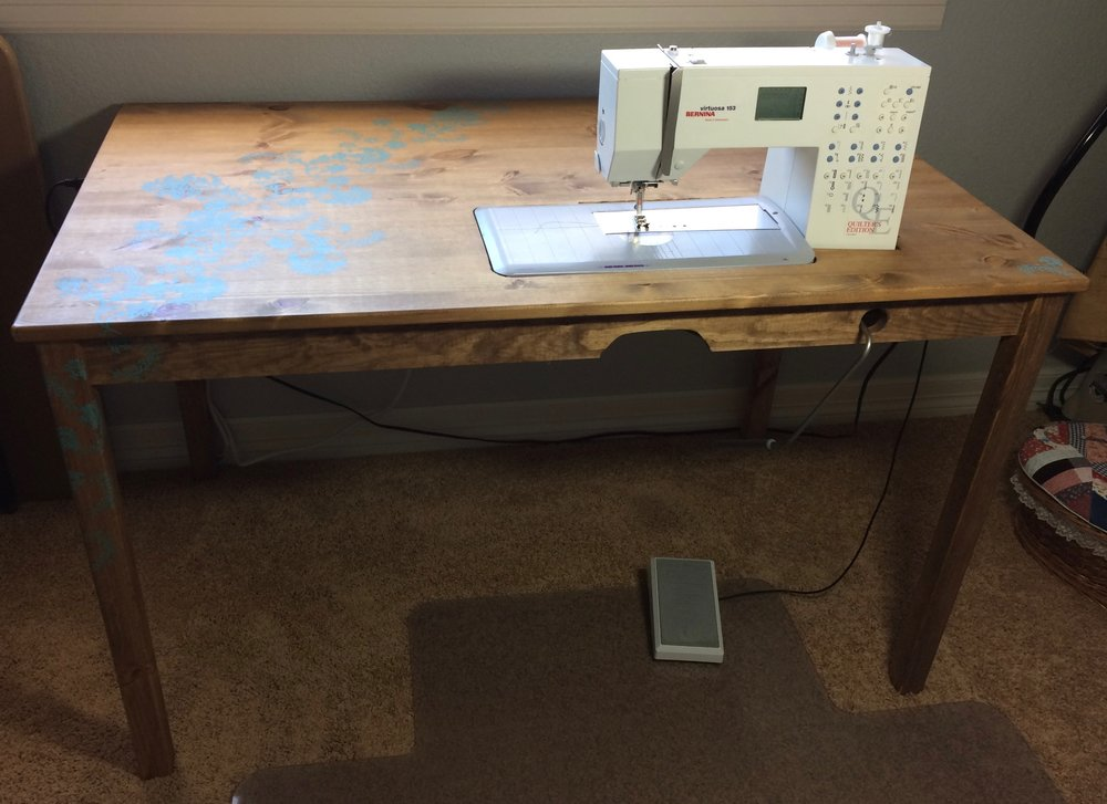 This Isnu0027t Our First Attempt To Make A Sewing Machine Table. A Few Years  Ago, I Decided I Wanted A Table For My Sewing Machine That Made It So That  The ...