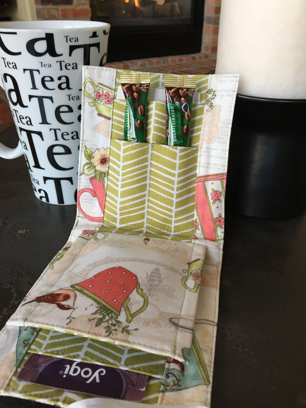 Tea Time Tea Wallet - Coffee Version Main Pocket
