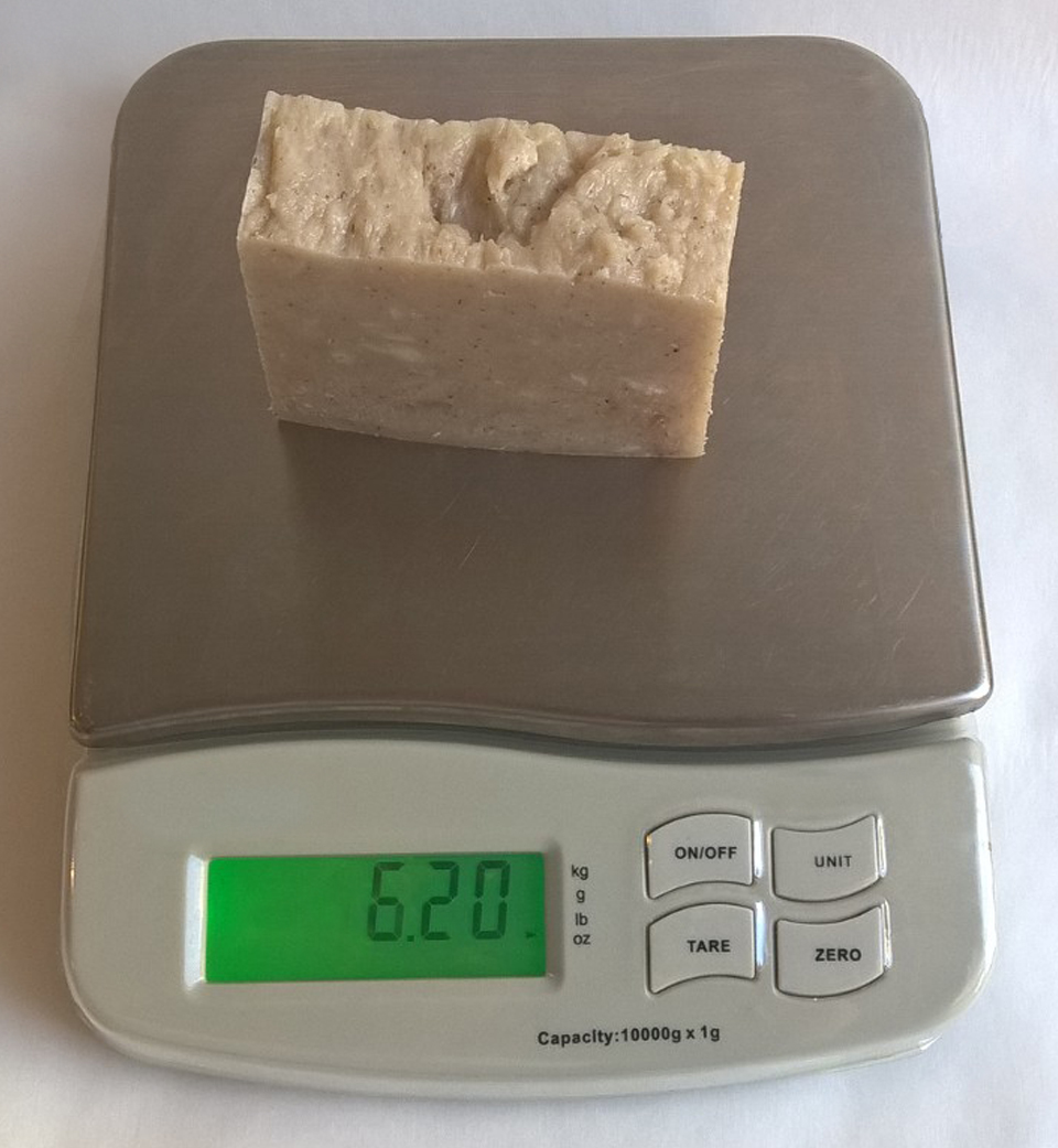 A bar of soap weighed right after cutting from a soap log may not have the same weight a month later. This happens as the water found in the soap evaporates over time.