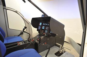 simulatore volo elicottero