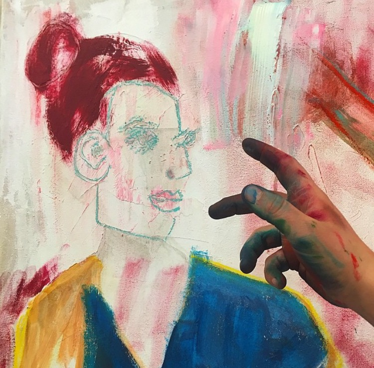 Lauren Orscheln is a New York based painter who works in all manner of sizes, and typically uses acrylic, oil or watercolor with graphite. Her particular indulgence is color. She welcomes commissions both large and small.   Email: l.orscheln09@gmail.com   Instagram:  laurenorscheln