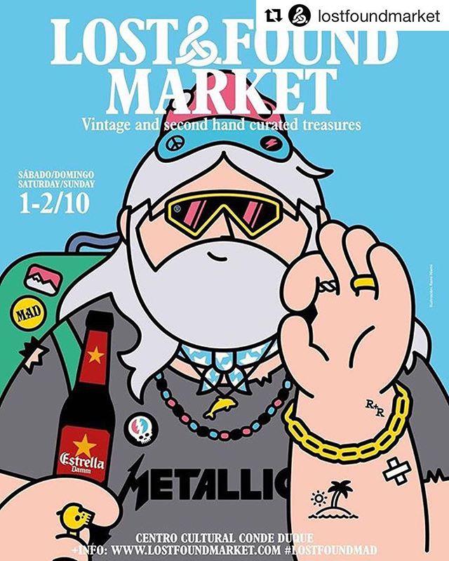 Lost & Found Market vuelve a Madrid.  En Conde Duque los días 1 y 2 de octubre. Más info: lostfoundmarket.com/mad  #lostfoundmarket #lostfoundmad #condeduque #madrid
