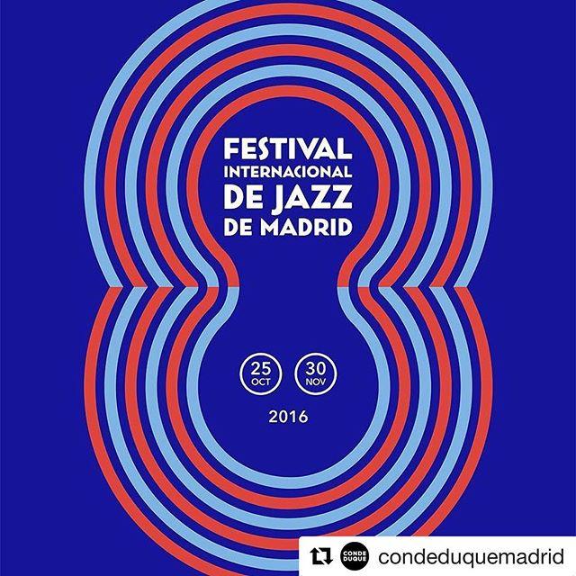 Vuelve JAZZMADRID16 a la capital. Del 25 de octubre al 30 de noviembre en #condeduque y #teatrofernangomez Más info: festivaldejazzmadrid.com/2016 #jazz #Madrid #música #músicaenvivo #lanocheenvivo #jazzmadrid16