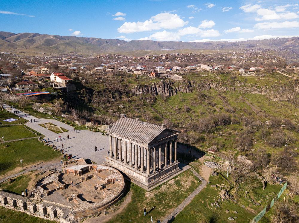 Garni Temple Aerial View