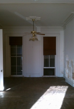 An image of the new building's original front office.