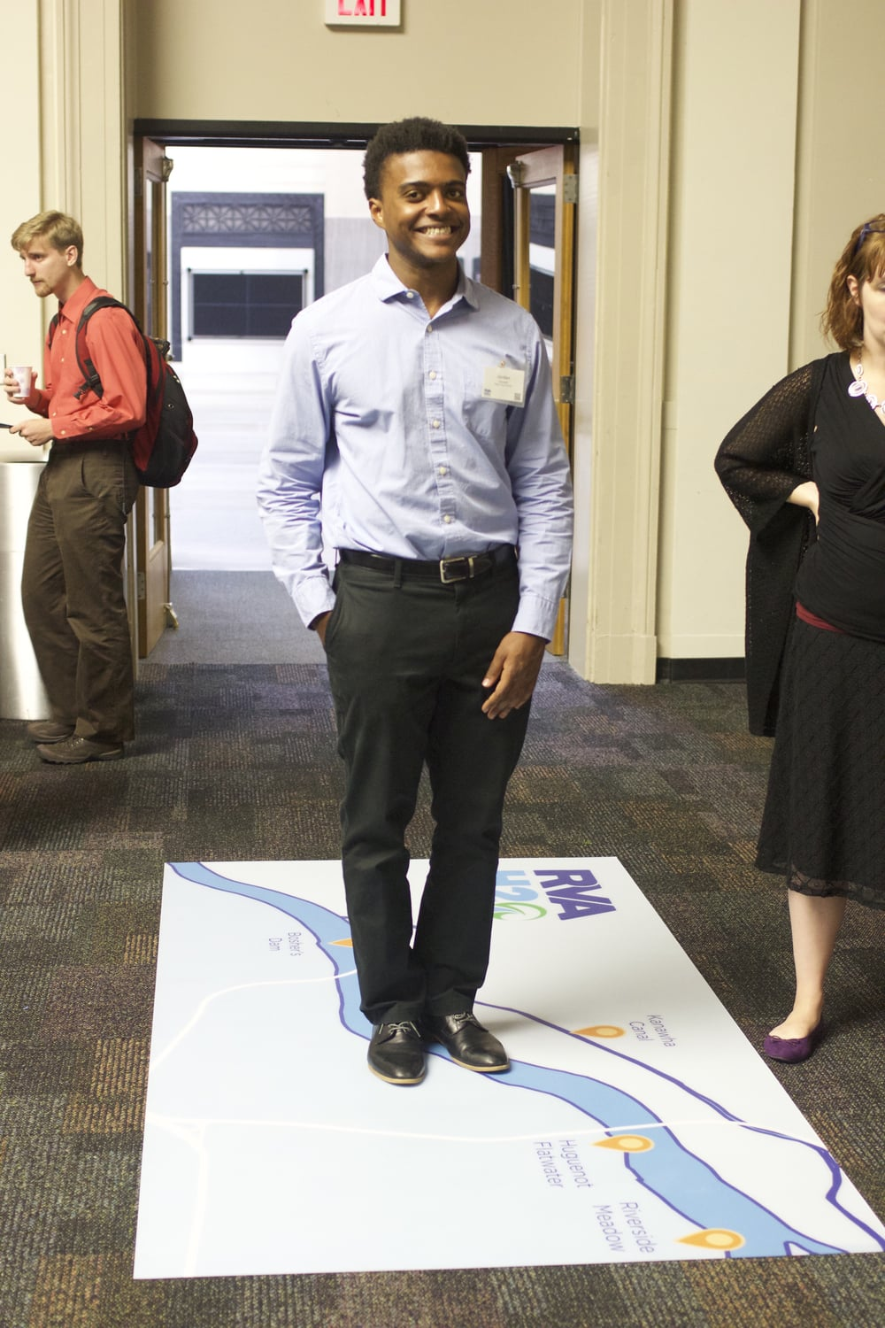 2015 Account Management Intern, Jordan Fennell, at RVAH2O Community Open House