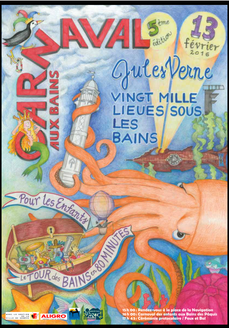 Mitchell's poster includes a giant squid, the Paquis Lighthouse, a hot air balloon and a hidden ode to RVA stashed among the treasure.