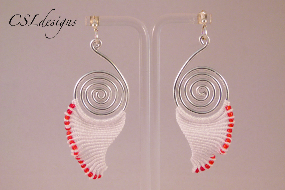 Angelic micro macrame earrings red.jpg