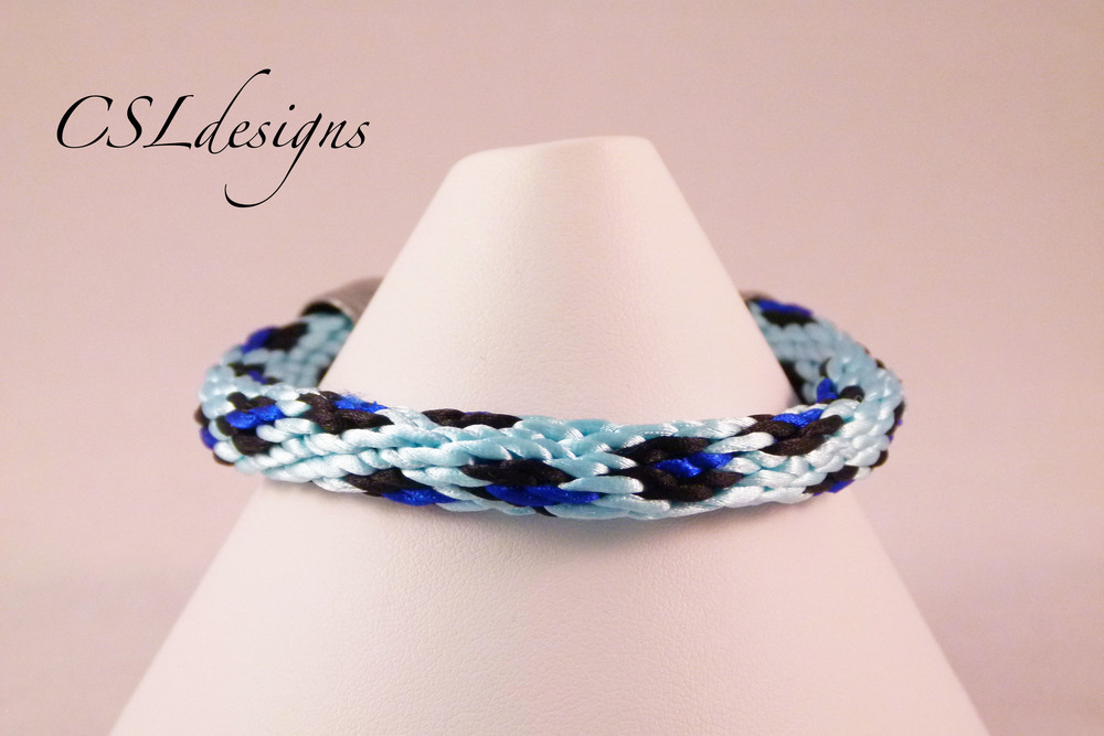 Leopard print kumihimo braid blue close.jpg