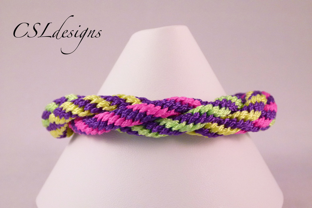 Multi colour basic kumihimo braid neon front close.jpg