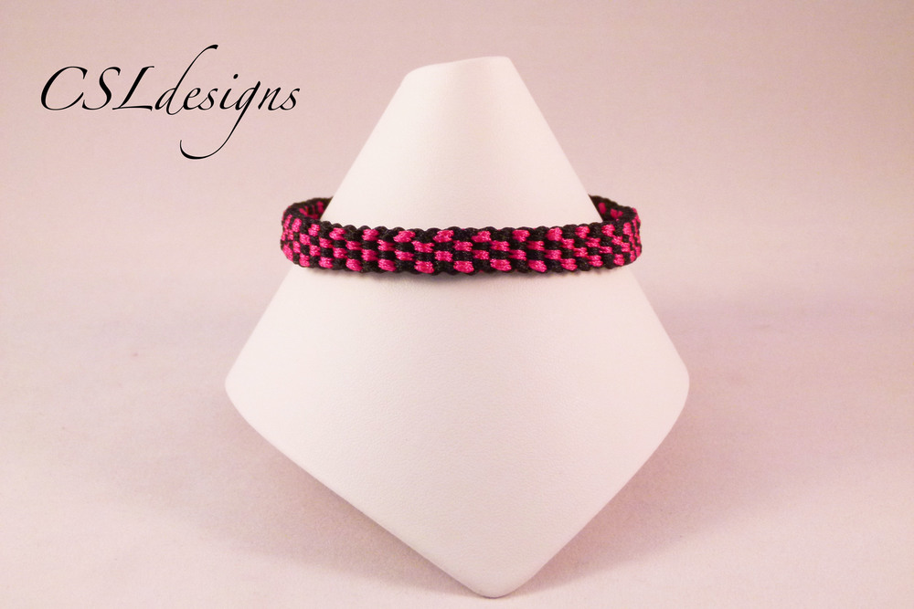 Small checker board kumihimo braid front full.jpg