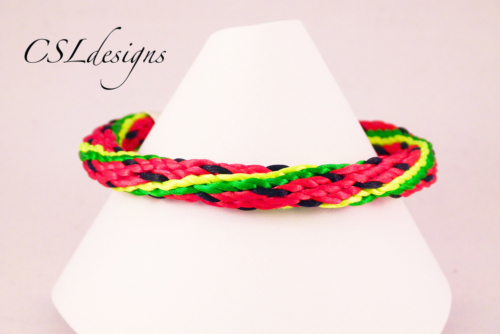 Watermelon kumihimo braid front close.jpg