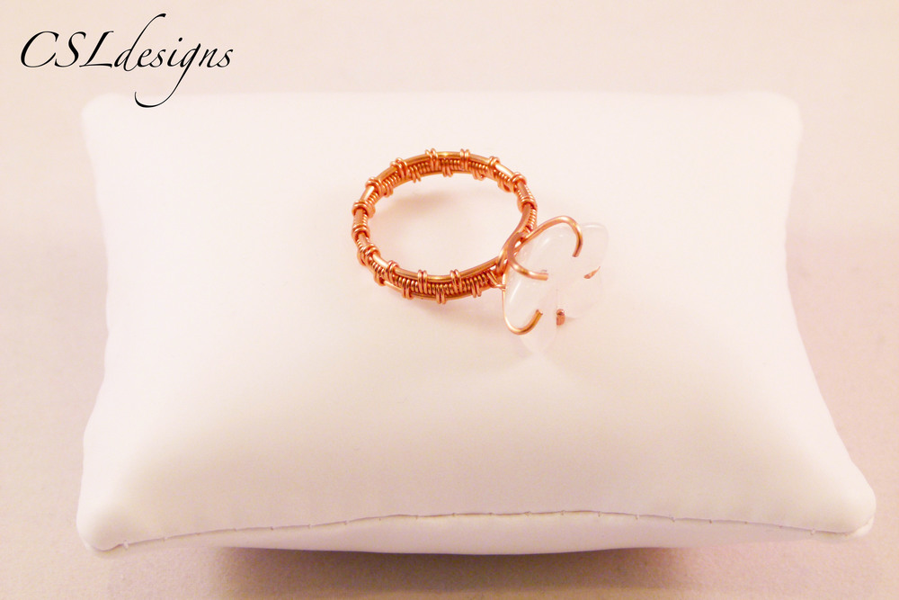 Copper wirewirk flower ring side pillow.jpg