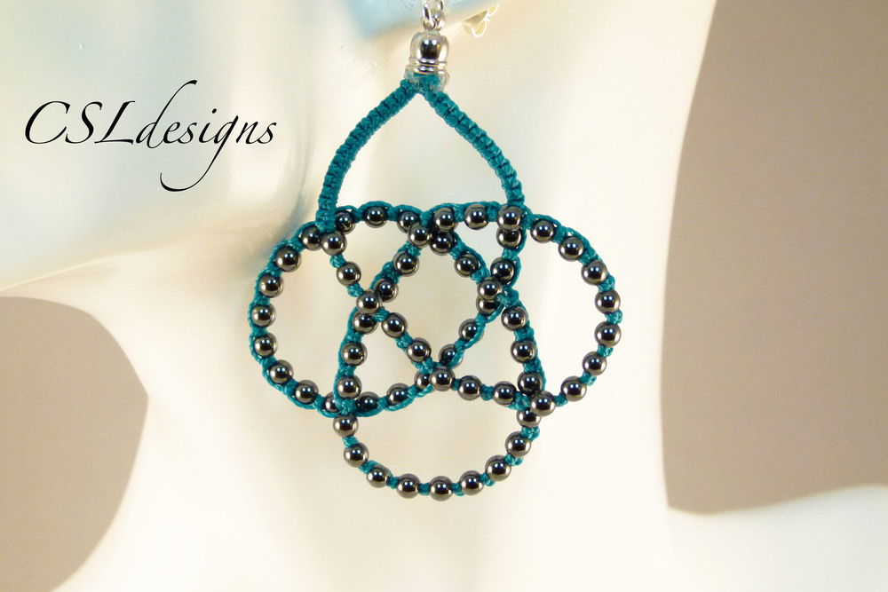 Beaded celtic knot micro macrame necklace thumbnail.jpg