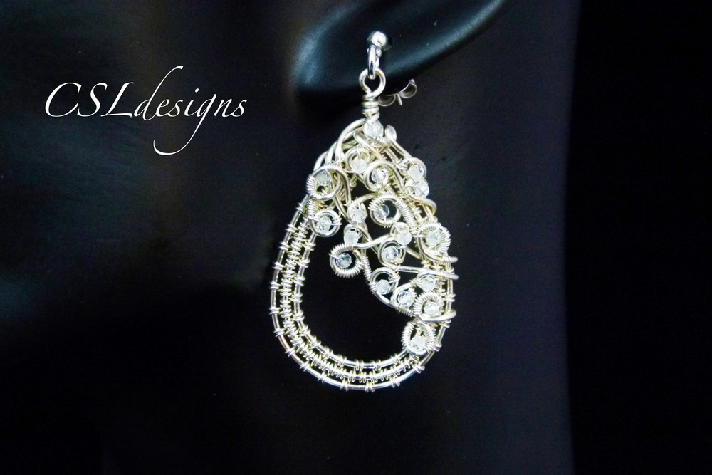 Organic teardrop wirework earrings thumbnail.jpg