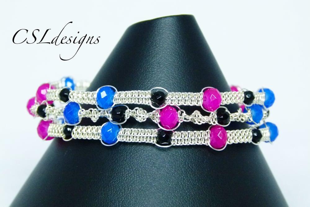 Multi strand wirework macrame bracelet thumbnail.jpg