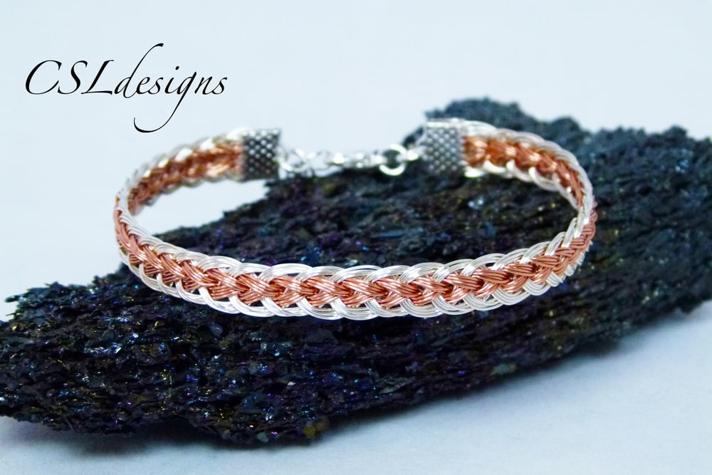 Two colour flat wire kumihimo bracelet.jpg