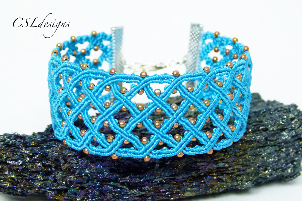 Celtic inspired micro macrame bracelet stone.jpg