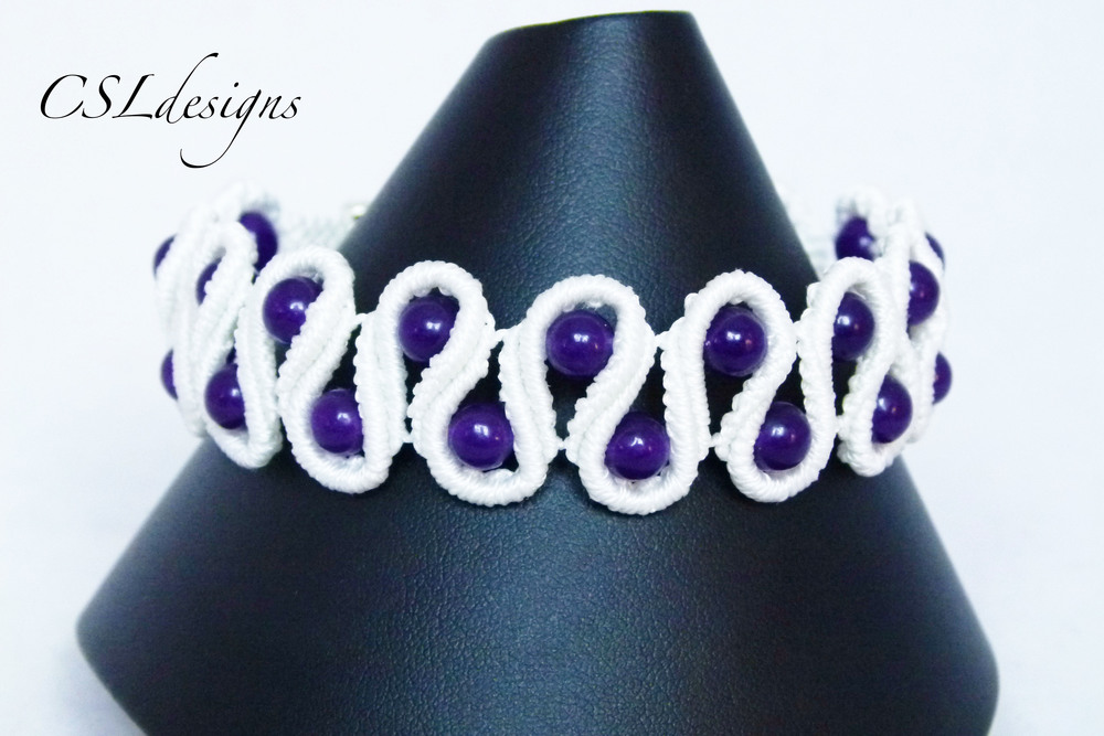 Beaded scalloped edge micro macrame bracelet.jpg
