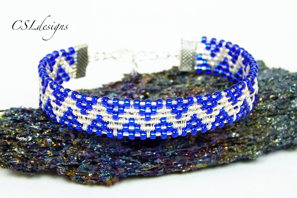 Beaded zig zag wire woven bracelet thumbnail.jpg