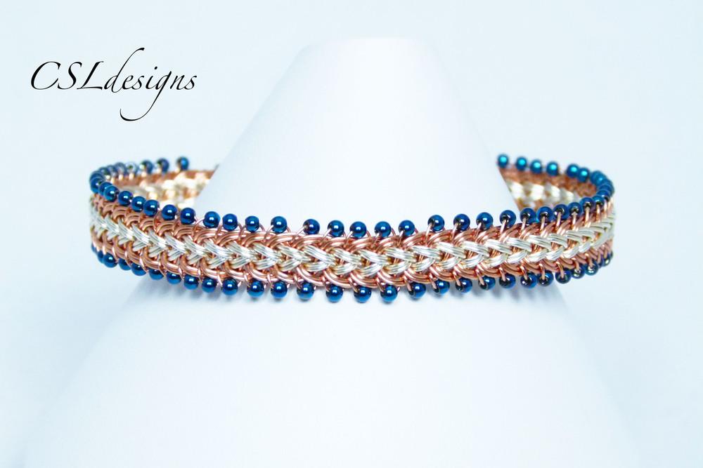 Beaded half round wire kumihimo bracelet.jpg