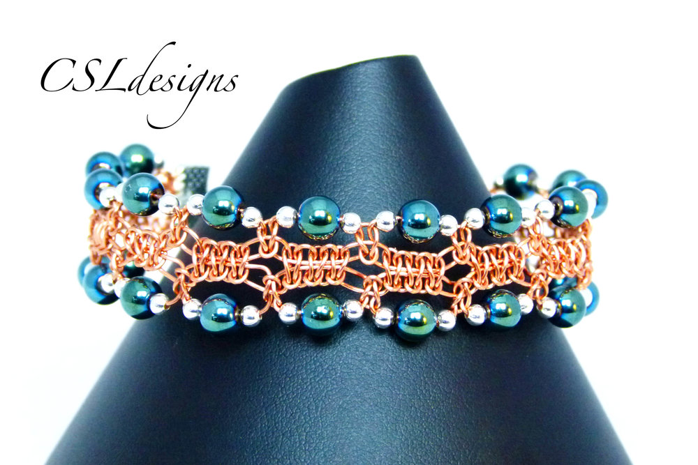 Edged beaded wirework macrame bracelet thumbnail.jpg