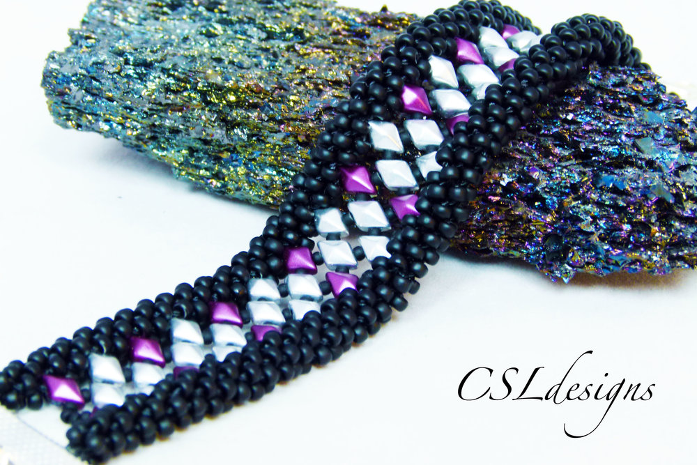 Diamond in the rough beaded kumihimo bracelet stone.jpg