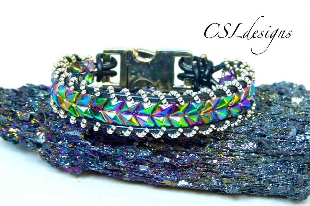 Embellished snake skin wrap bracelet thumbnail.jpg