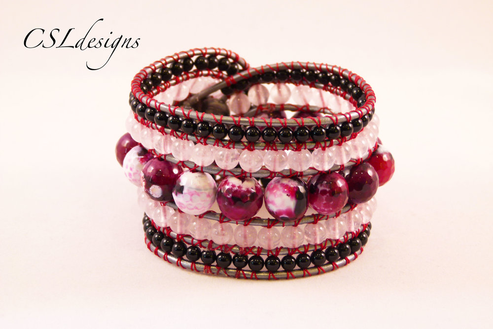 5 row wrap around bracelet burgundy back.jpg