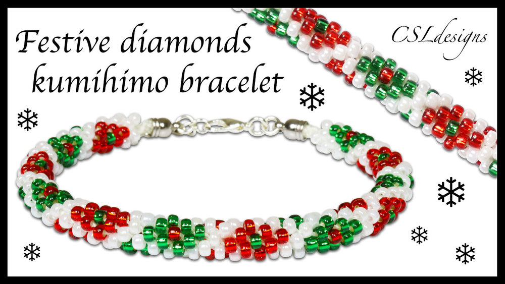 Festive diamonds beaded kumihimo bracelet.jpg