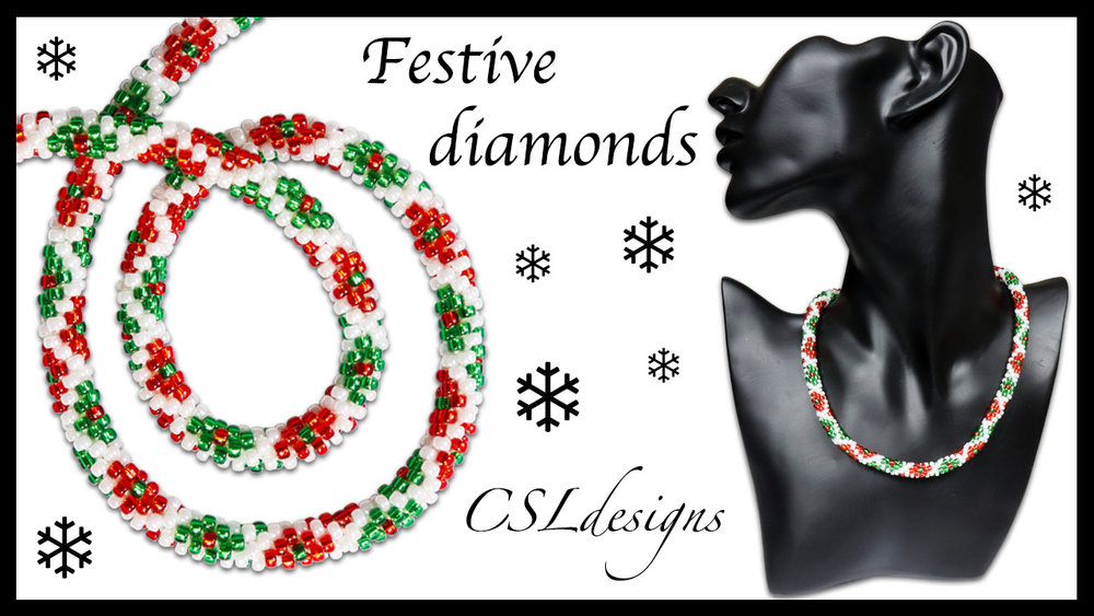 Festive diamonds beaded kumihimo necklace thumbnail.jpg