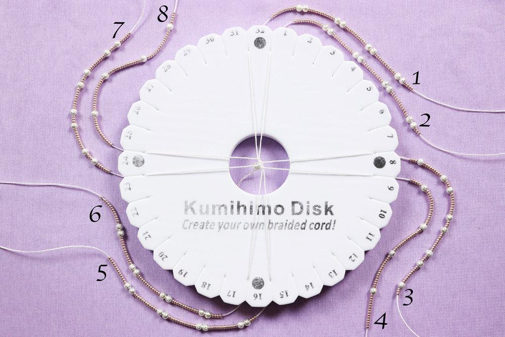 Elegant flowers beaded kumihimo bracelet picture setup.jpg