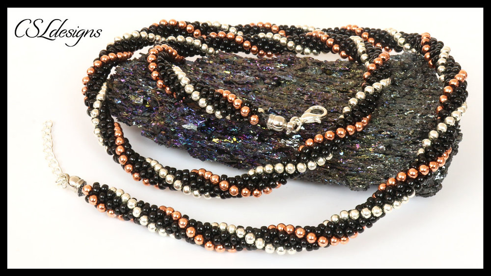 Metallic stripes beaded kumihimo necklace thumbnail.jpg