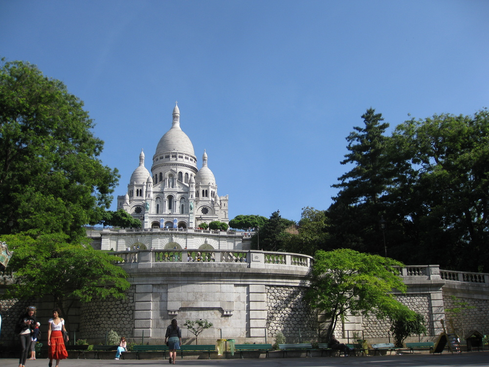 Sacre Coeur Cathedral, Paris And The View Our Parisian Friend Motioned To Us To See