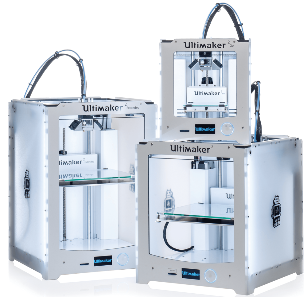 Ultimaker 2, 2 Go y 2 Extended