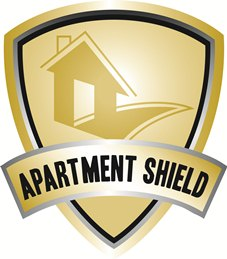 This Apartment Shield logo represents the Oklahoma apartment insurance provided by Professional Insurors OKC.