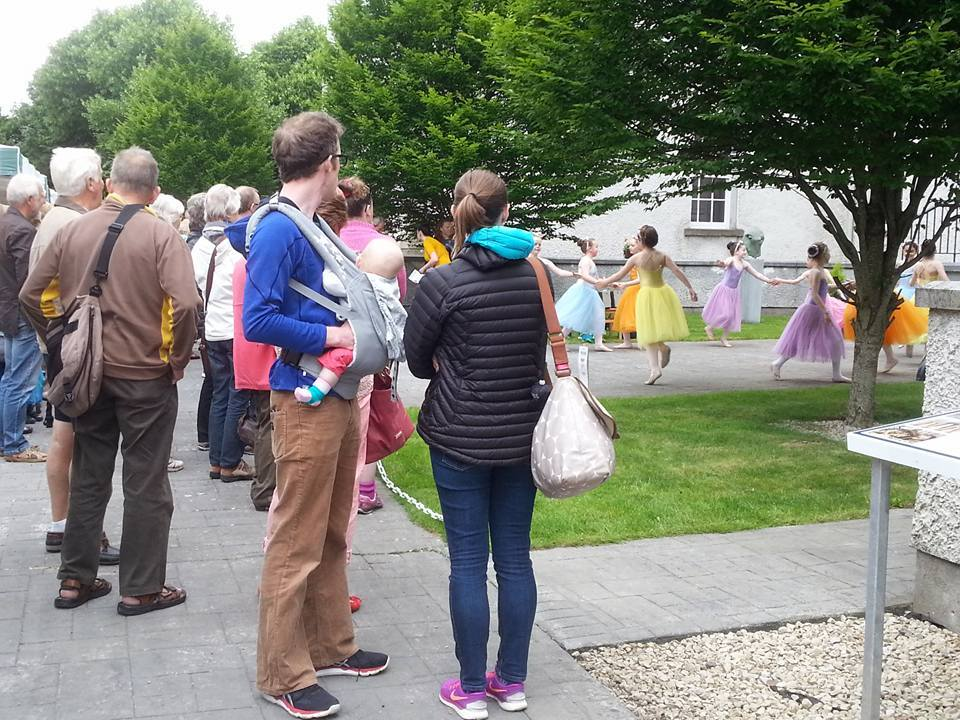 The talented dancers from McDermott Ballet School giving a performance, Boyle Courtyard Market, County Roscommon.