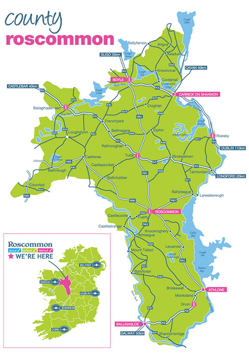 County-Roscommon-Map