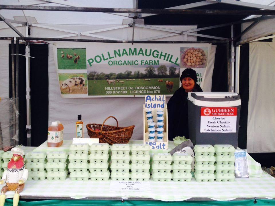 Brid from Pollnamaughill Organic Farm, Boyle Courtyard Market, County Roscommon.