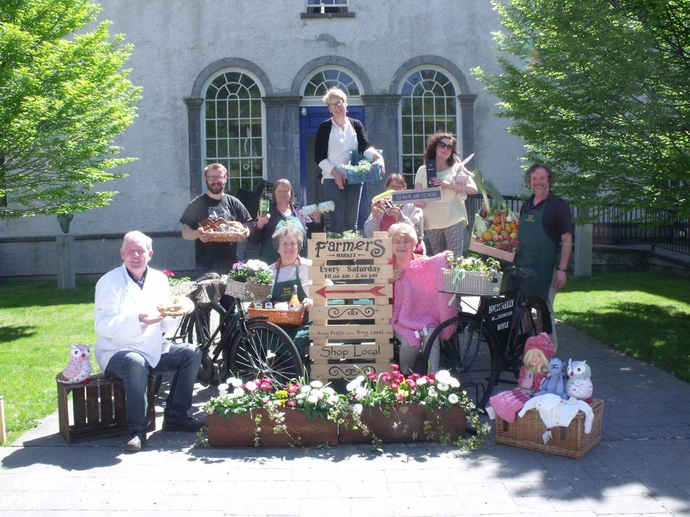 All of our wonderful stallholders, Boyle Courtyard Market, County Roscommon.