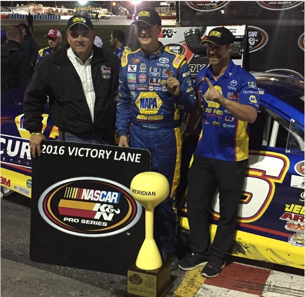 bmr_nascar. @toddgilliland_ won the NAPA AUTO PARTS Idaho 208 at @meridianspeedway to score his sixth #KNWest win of the season..jpg